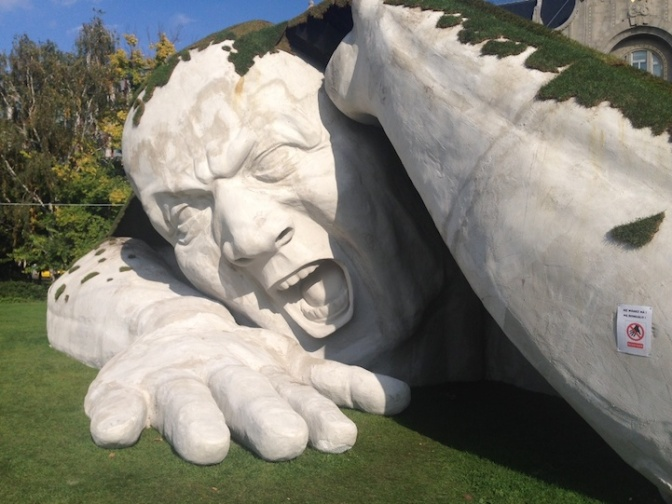 Gigantic Man Erupts from the Earth in this Spectacular Outdoor Sculpture