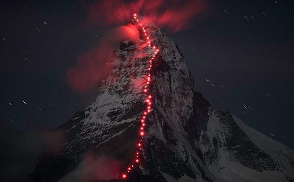 Swiss mountaineering brand Mammut has teamed up with mountaineering photographer Robert Böesch to capture stunning images of mountain climbers ascending the Swiss Alps.