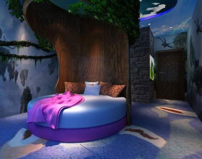 Starry colorful bedroom ideas