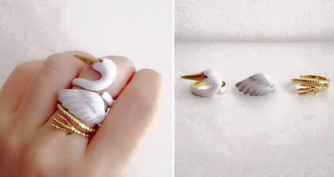 Animal Rings – These 3 piece rings set when worn together makes a complete animal pictures