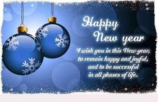 Wishing you all a very Happy and Prosperous New Year