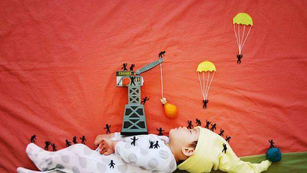 Creative mom turns her baby's nap time into an amazing adventure