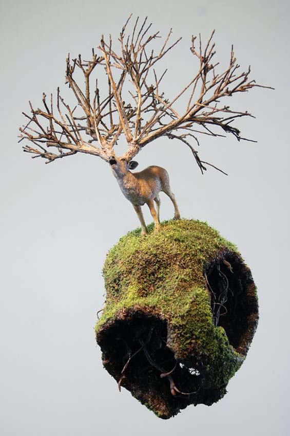 Nature Meets Urban Decay In Patrick Bergsma Magical,Gravity-Defying Landscape Sculpturs