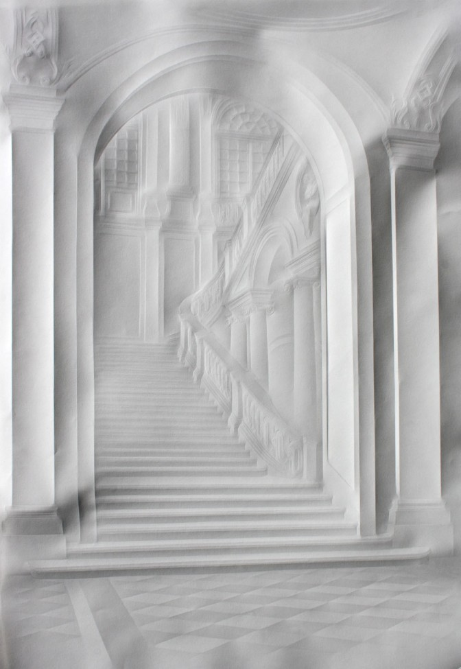 Incredible paper interior portraits by Simon Schubert