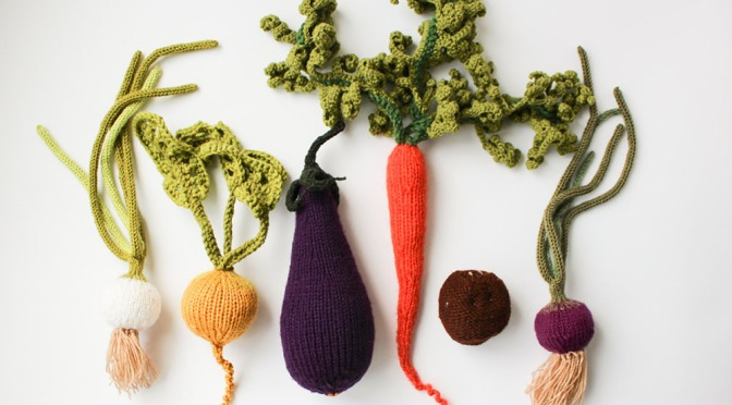 Realistic Knit Fruits and Veggies Look Good Enough to Eat by MapleApple