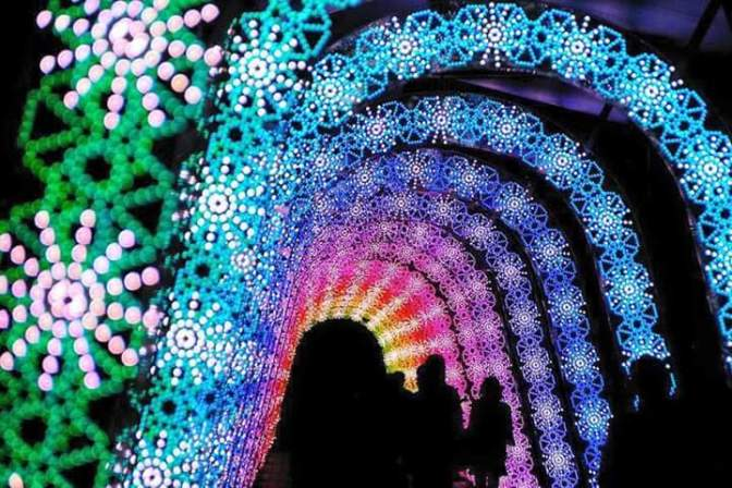 Festival of lights in Japan