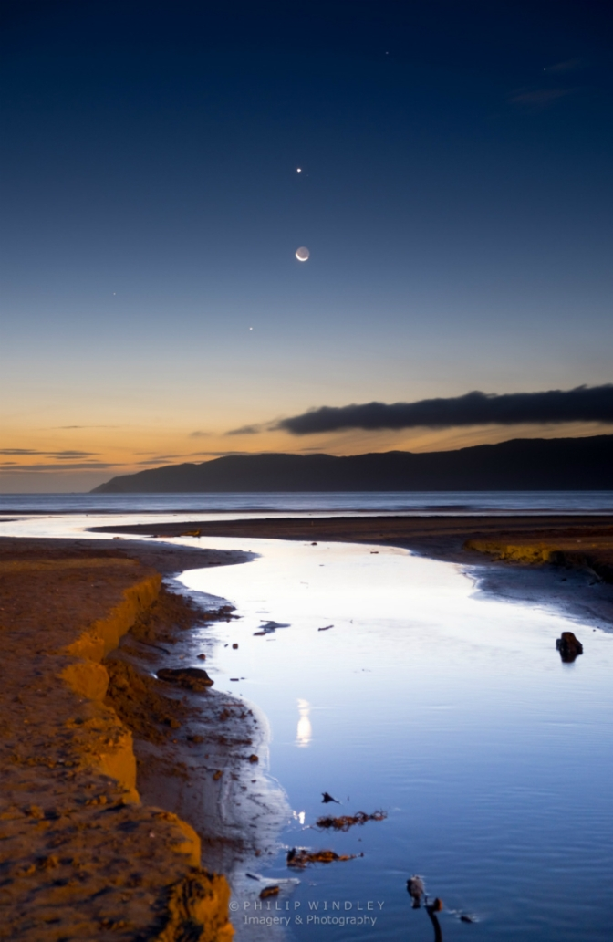 This photographer captured a special moment featuring Moon, Mercury, Venus and Jupiter in a single picture.