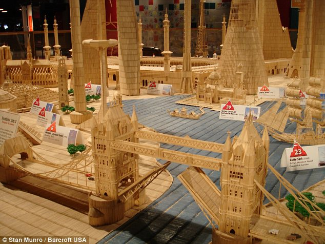Have you ever heard about the Toothpick City or Toothpick World? Here's the wonderful creation.