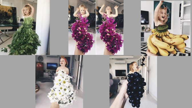 This Mom and daughter duo found their happiness in creating dresses out of produce and capturing the moments.